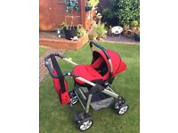 Silver Cross Ventura plus. Car seat, pram and pushchair