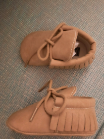 Suede Baby Moccasin Shoes 0-6months New