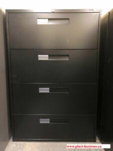 Lateral Filing Cabinet; 4 Drawer Lateral Cabinet; Metal Cabinets