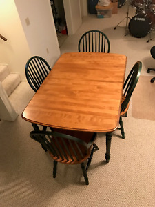 Table, 6 Chairs, Corner Cabinet