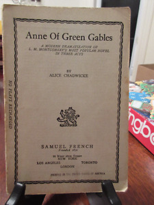 Antique copy 1937 - Anne of Green Gables The Play in 3 Acts