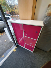 Pink tall boy chest of drawers £70