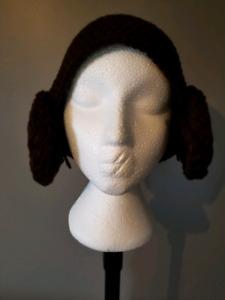Princess Leia star wars crochet hat