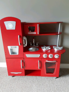 KidKraft Red Vintage Play Kitchen with Accessories