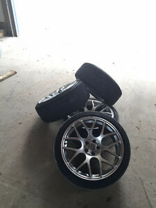 5x100 3SDM rims with good 225/40/R18 tires
