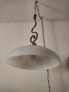 Hanging lamp with unusual hanger Strathcona County Edmonton Area image 2