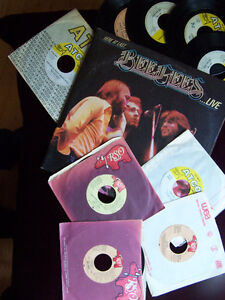 Bee Gees - 1 LP (live double) and 9 45 Vinyl records Cambridge Kitchener Area image 1