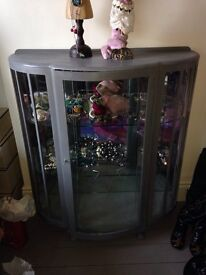 Antique vintage upcycled china glass cabinet