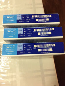 1-day acuvue moist daily contact lenses - $40 North Shore Greater Vancouver Area image 2