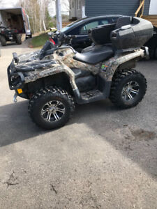 2014 can am outlander 1000xt. Trade for sled