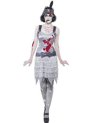 Traje Disfraz Mujer Bailarina Charleston Zombie Halloween Años