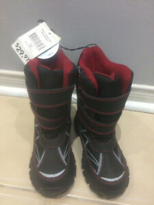 BRAND NEW boy winter boots, size 12 WITH TAGS