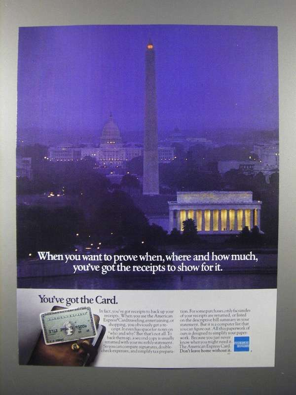 1980 American Express Card Ad - You