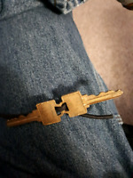 Found - 2 house keys tied together