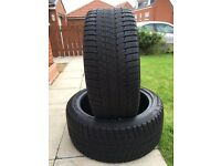 2x 245/40VR18 Falken HS449 part worn winter tyres