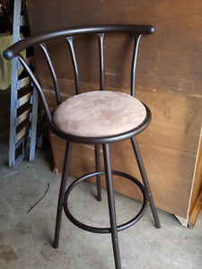 Two Swivel Bar Stools - Metal Frames - 29 Inches Tall