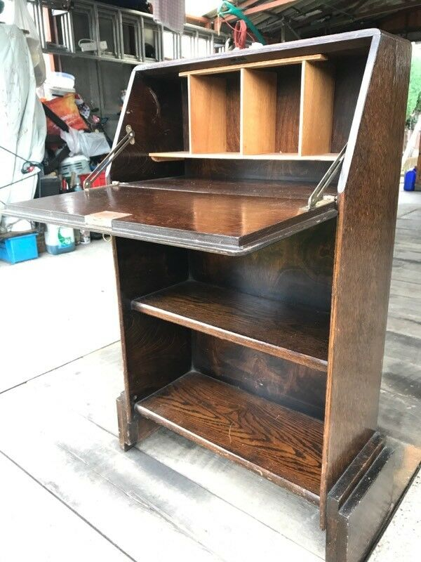 Antique Vintage Writing Cabinet