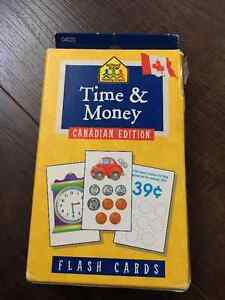 School Zone - Time & Money Canadian Edition - Flash Cards Kingston Kingston Area image 1