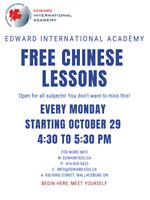 FREE Chinese Lessons at Edward International Academy