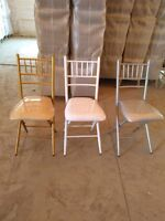 Beautiful Folding Chiavari Chairs for Rent