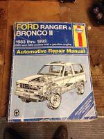 1983-1993 ford ranger and bronco 2 Haynes repair manual