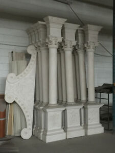 Gypsum Columns with artistic base and capital