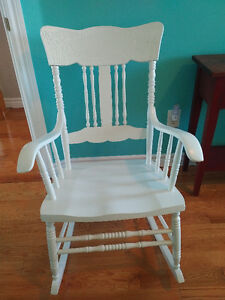 Refiniished White Rocking Chair