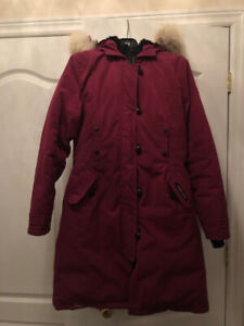 Mauve Canada Goose Parka with Fur (Authentic, with tags)