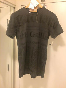 Galliano T shirt Size S Grey 100% Authentic New with Tag