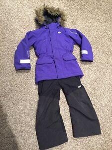 Girls Helly Hansen winter coat and ski pants
