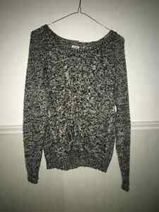 Black and white knit sweater Windsor Region Ontario image 1