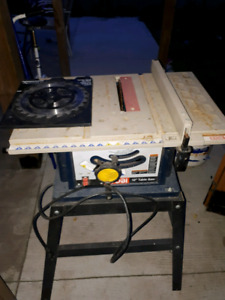 Table Saw with New Carbon Blade