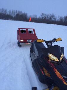 Kids Snowmobile trailer caboose
