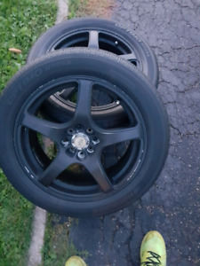 4x100rims and possible 4x114 multi fit  with 225/50 R17 tires