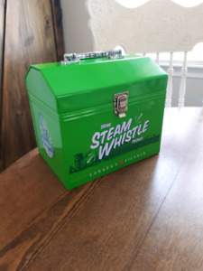 Steam whistle metal lunch pail