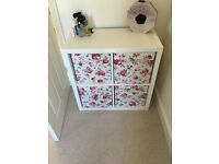 White ikea set of drawers