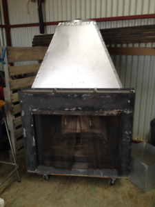 Zero Clearance fireplace and chimney