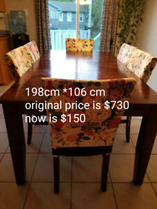 Dining table and chair,
