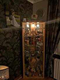 Light oak corner display unit