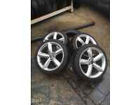 Mercedes 18inch alloys removed from a Mercedes c class 5-6 ml matching tyres
