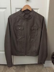 Faux Leather Women's Jacket