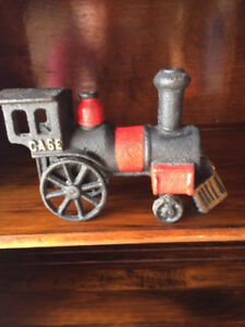 CAST IRON TRAIN AND TRUCK