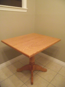 Custom solid oak table for smaller spaces