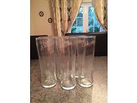 Six half pint carlin glasses