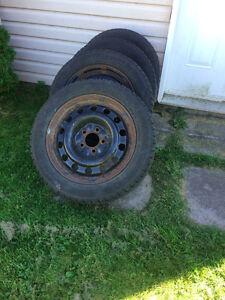 Winter Tires + Rims fits Honda Civic 2006-2010 Negotiable! West Island Greater Montréal image 1