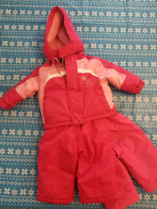 12m Girls Athetic Works Snowsuit with 2nd pair snowpants