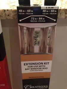 Umbra bay window curtain rod and extension kit Edmonton Edmonton Area image 3