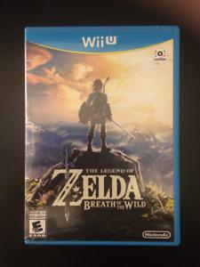 The Legend of Zelda Breath of the Wild for the Nintendo Wii U