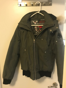 Moose Knuckle Bomber Jacket Mens Small Grey $350
