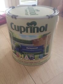 brand new cuprinol shades (barleywood) fence paint